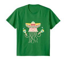 Amazon.com: MEXICAN SHIRT: CUTE JELLYFISH WITH SOMBRERO & MARACAS: Clothing