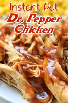 Dump and go Instant Pot/Crockpot chicken recipe! So good! Slow Cooker Recipes, Crockpot Recipes, Cooking Recipes, Make Ahead Lunches, Chicken Stuffed Peppers, Best Chicken Recipes, Pressure Cooking, Instant Pot, A Food