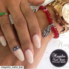 evil eye mani. #nails