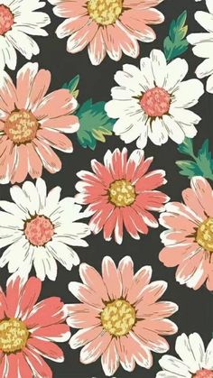 Flowers wallpaper for phone iphone backgrounds floral prints Best Ideas Frühling Wallpaper, Tumblr Wallpaper, Flower Wallpaper, Pattern Wallpaper, Wallpaper Backgrounds, Iphone Backgrounds, Iphone Wallpapers, Screensaver Iphone, White Wallpaper