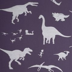'D'ya-think-e-saurus' Purple and Silver by Paperboy Interiors   Nubie - Modern Baby Boutique