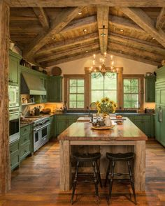 With Antique white cabinets