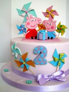 Peppa Pig Cake - by BellasBakery @ CakesDecor.com - cake decorating website