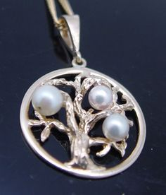 Pearl Tree of Life Pendant remodelled from a Dress ring. The lovely owner loves her new Pendant