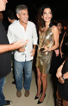 George and Amal Clooney Have the Most Ibiza Time in Ibiza   - ELLE.com