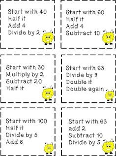 Mental Math Freebie
