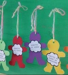 www.maestragemma.com Lavoretti-diritti-bambini.htm Opening Day, Special Day, Montessori, Preschool, Education, Christmas Ornaments, Holiday Decor, Children, Cards