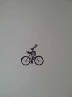 """Line wash painting on Paper Title """"Dikwiel"""" - Thick wheel for riding a bicycle on the sand township roads in Africa A3, Roads, Inventions, Africa, Bicycle, Concept, Sculpture, Paper, Artwork"""
