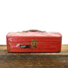 Vintage Red Tool Box Disston My Buddy by OldRedHenVintage on Etsy