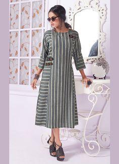 Kurta Designs Women, Kurti Neck Designs, Kurti Designs Party Wear, Dress Neck Designs, Blouse Designs, Stylish Dress Designs, Stylish Dresses, Casual Dresses For Women, Cotton Frocks For Kids