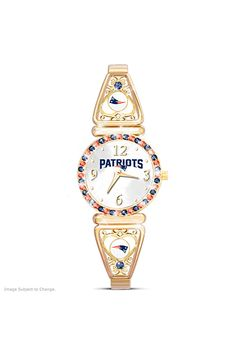 Celebrate your Patriots every minute with this NFL-licensed women's watch. Shop Now!