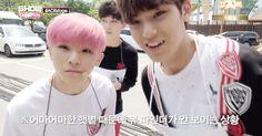Woozi & Mingyu. Mingyu is a vampire like Mark