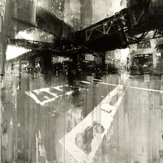 """""""Composition 144-The L,"""" by Jeremy Mann, 48x48 , oil on panel -- at Principle Gallery"""