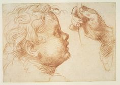 Andrea del Sarto (1486–1530), Studies of a Head and a Hand, 1510, Red chalk | | Metropolitan Museum of Art