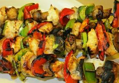 Chicken Kabobs with Grilled Vegetables