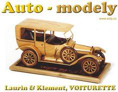 Laurin & Klement, VOITURETTE, model ze dřeva - Dřevěné hračky pro děti SOLY