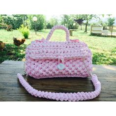 """BoWling bag canDy PINK Borsa """"BoWling rosa confetto (€25) via Polyvore featuring bags, handbags, bowling bags, chain handle purses, pink purse, chain handbags and purple purse"""