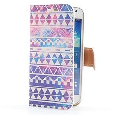 Vintage Stripe Style Leather Case with Card Slot and Stand for Samsung Galaxy S4 Mini i9190 - USD $ 6.99
