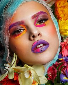"""5,045 Likes, 69 Comments - @tominamakeup on Instagram: """"The power of flowers 🌼🌸🌺🌷 To be continued.. Have a colorful dreams, my love! MUA&style…"""""""