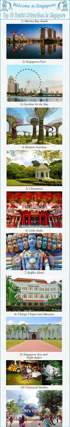 2015-2018 Top 10 #Tourist Attractions in #Singapore —Guide to moving to Singapore www.expatessentia...