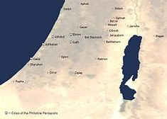 Battles in Bible between Israel and Philistines Battle of Shephelah (2 Chr. 28:18) Philistines capture the Ark (1 Sam. 4:1–10) Philistines defeated at Battle of Eben-Ezer (1 Sam. 7:3–14) At Michmash, Philistines routed by Jonathan and men (1 Sam. 14) David defeats Goliath in single combat (1 Sam. 17) Philistines defeat Israel on Mt. Gilboa, killing King Saul and his three sons (1 Sam. 31) Hezekiah defeats Philistines as far as Gaza and its territory (2 Ki. 18:5–8)