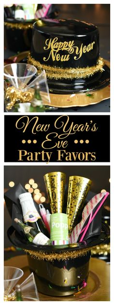 New Year's Eve Party Favors-Fill a party hat with fun favors for a great NYE celebration! Celebration Images, New Year Celebration, Party Invitations, Party Favors, New Year's Eve Crafts, New Year's Eve Activities, New Year's Eve Celebrations, Nye Party, Nouvel An