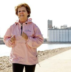 A Change of Pace: Cindy Young doesn't see herself as a runner – yet. But, by this fall, she's hoping to earn that title and wear it proudly. Medical Information, Breast Cancer Awareness, Rain Jacket, Windbreaker, Raincoat, Change, Fall, Summer, How To Wear