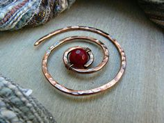 Spiral Brooch Celtic Shawl Pin Jewellery by AdornWireStudio Wire Jewellery, Copper Jewelry, Wire Wrapped Jewelry, Jewelry Art, Copper Anniversary Gifts, Shawl Pin, Red Agate, Metal Work, Shopping Mall