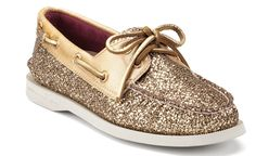 Sparkly gold sperry...want for game day