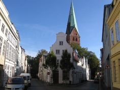 Lübeck, - Aegidienstraße +Kirche