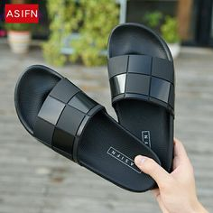 ASIFN Men Slippers Mosaic Lattice Flip Flops Women Summer Slides Male Type Couple Beach Shoes Home Zapatos Mujer Wholesale Leather Slippers, Mens Slippers, Leather Sandals, Men Sandals, Fashion Slippers, Fashion Sandals, Summer Slippers, Fashionable Snow Boots, Shoes