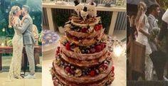 Bolo de casamento de Luana Piovani segue a tend�ncia do naked cake - Saiba mais sobre a tend�ncia do naked cake, tipo de bolo escolhido por Luana Piovani para o seu casamento com Pedro Scooby