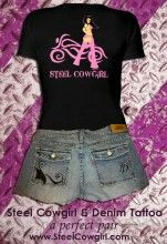 Steel Cowgirl & Denim Tattoo...a perfect pair!