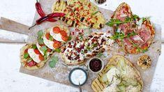 Pizza på grillen? Prøv Flatbread Pizza - REMA 1000 Flatbread Pizza, Vegetable Pizza, Bacon, Vegetables, Food, Crickets, Meal, Essen, Vegetable Recipes