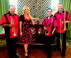 Chrome '57 Band performs music from the 1950's, retro, Rockabilly, Oldies & can transition into to 60's, 70's, 80's, 90's, and 2000's In vintage costumes, they pack the dance floor for corporate events, conventions, charity galas & more. 3 to 8 pieces, insured, sound/lights included. Chrome57band.com Grease Theme, 50s Rockabilly, Sock Hop, Vintage Costumes, Corporate Events, Orlando, Charity, Chrome, Dance