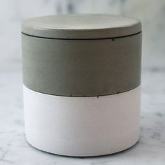 Stacking concrete salt cellars. Just bought these.