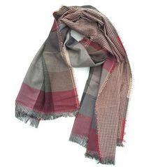 free ship 2016 tartan Scarves men winter new brand Fashion Plaid Scarf for Men Design cozy warm long scarf cotton brown Tassel