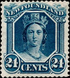Big Blue Newfoundland- The Royal Family on Stamps More about… Old Stamps, Rare Stamps, Vintage Stamps, Timbre Canada, Ghibli, Postage Stamp Art, Newfoundland And Labrador, Stamp Collecting, Mail Art