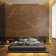 Ideas For Mens Bedroom With Unique Wall Design. Ideas For Mens Bedroom With Unique Wall Design. Bedroom Lamps Design, Black Bedroom Design, Blue Bedroom Decor, Luxury Bedroom Design, Home Room Design, Master Bedroom Design, Men Bedroom, Bedroom Colors, Bedroom Modern