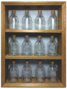 Porta Temperos Ou Condimentos De Madeira Com Frascos De Vidr - R$ 131,11
