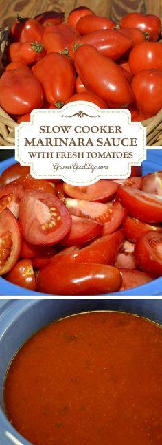 Crockpot Tomato Sauce with Fresh Tomatoes