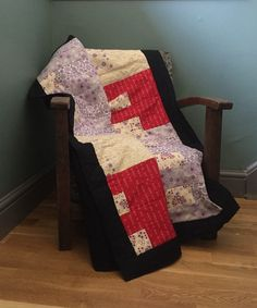 Patchwork stripey quilt (quillow) £59.99