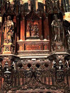 Le Faou : tribune de l'église Notre-Dame de Rumengol. Bretagne Brest, Brittany, Roads, Carving, France, Lds Art, Nun, Road Routes, Wood Carvings
