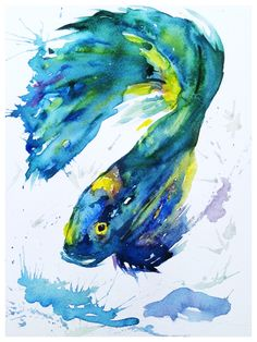 By #whitecanva #watercolour #fish #art #style #watercolorpainting