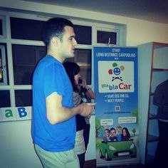 "@Blabla Car's photo: ""Alec talking to our members!  #BlaBlaDrink"""