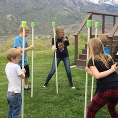 """170 Likes, 27 Comments - Maria Eckersley (@meckmomlife) on Instagram: """"Big Group Games: The Stick Game. This one is so fun in big groups, especially if they're…"""""""