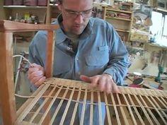 Weaving a Danish Cord Seat (3)