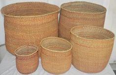 Iringa Auburn Basket XL Size. ringa Auburn Basket - Rust colour XXL: H: 27-38cm x D: 43-45cm, XL H: 27-38 x D: 40-42cm, L H: 27-38 x Dia38-39cm, Med H: 25-34 x D32-34cm, S H:16-24 x H: 20-24cm, XS H10-14 x Dia 12 -14cm, XXS H: 7-13 x 8-11cm XXL1200gms, XL 1000gms, L 800gms, M 700gms, S 600gms, XS 300gms, XXS 150gms