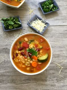 30 Minute Orzo Minestrone Soup is hearty, nutritious and packed with your favorite Italian flavors.  The beans provide protein, the vegetables provide vitamins and the cheese provides calcium. // A Cedar Spoon