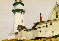 Hopper, Edward  Light at Two Lights  1927  Watercolor on paper